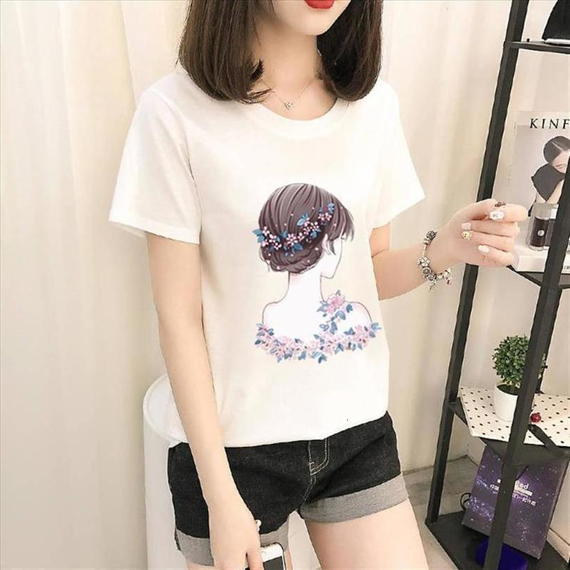 2020 Clearance T Shirt Cute Commuter Casual Party Female Short Sleeved Loose Womens Shirt Round Neck Shirt In Stock
