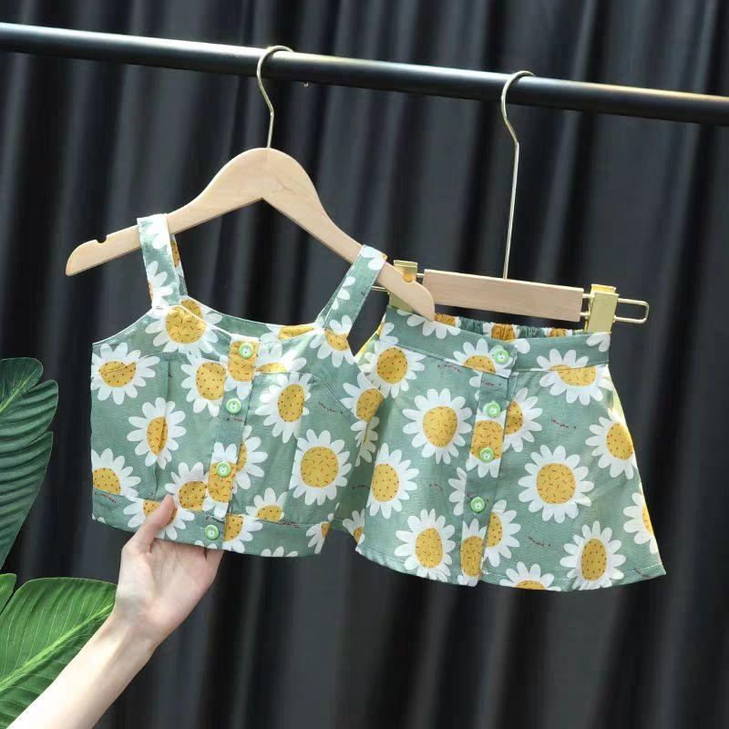 2020 Estate Nuovo Arrivo Girls Fashion Daisy Suit Top + Gonna 2 pezzi Set Girl Set