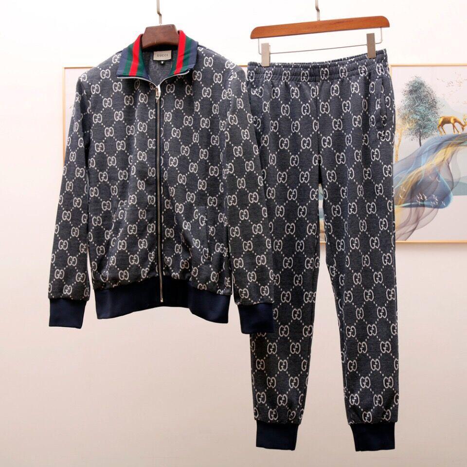 2020 G Mensentwerfer Anzug Herbst arbeiten LuxuxMens Schweißklagen kühlen Street lange Hosen (Jackets + Pants) M-3XL
