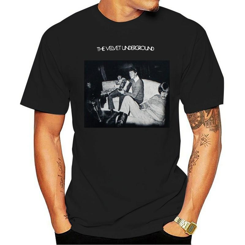 Otantik KADİFE YERALTI Band Self Titled Kapak Slim-Fit Tişört S-3XL YENİ Erkekler Tişörtlü Büyük Kalite komik adam Pamuk