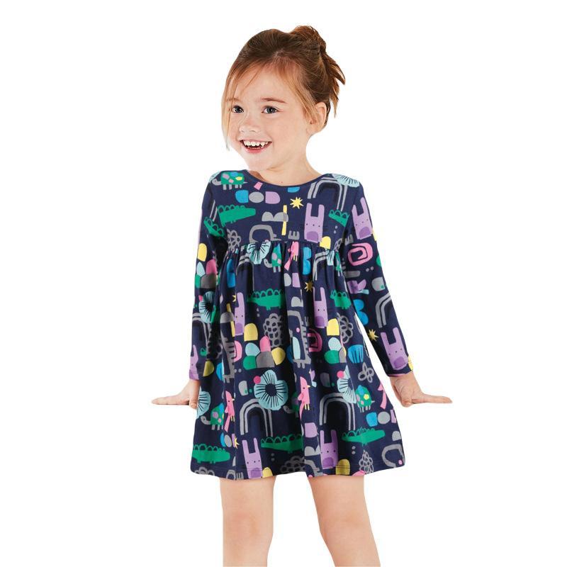 Vêtements bébé robes fleurs pour les filles 100% vêtements tout-petit tissu de coton enfants de haute qualité robe de gros formats mixtes 2-7Yrs fabriqués en Chine