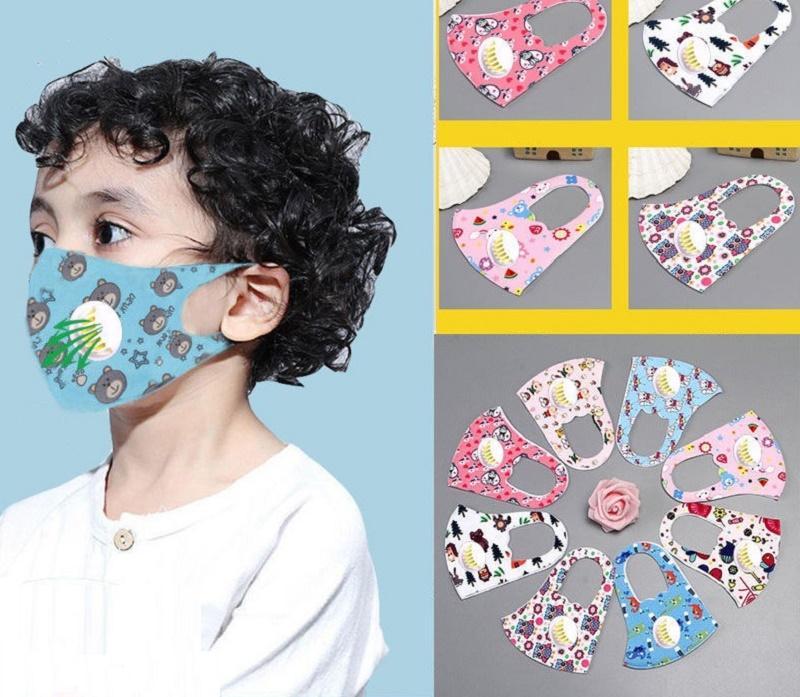 Tasarımcı Yüz Maskesi Buz ipek Nefes Vana 300pcs Anti Toz Yüz Kapak PM2.5 toz geçirmez Yıkanabilir Yeniden kullanılabilir Pamuk Maskeler Kid Yüz Maskeleri Maske