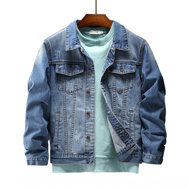 2020 ilkbahar ve Hint sonbahar moda markası işlemeli kot erkek İşlemeli Kore moda ince ceket kot ceket