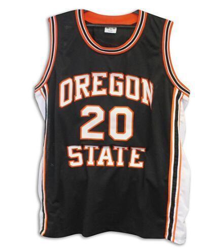 Donna-Uomo della gioventù Vintage # 20 Gary Payton Oregon State Beavers Jersey di pallacanestro di formato S-4XL o personalizzato qualsiasi nome o numero di maglia