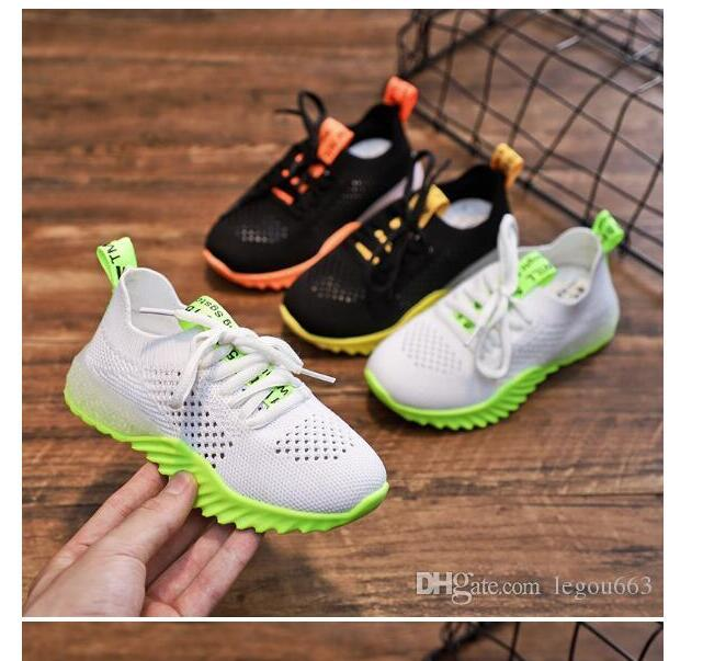 Children shoes Girls'Shoes Sports Shoes New Spring Shoe 2020 Summer Boys' Mesh Breathable Shoes WL453
