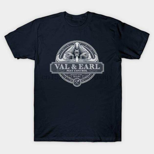 Hombres camiseta de manga corta Val y control de plagas Earl Temblores mujeres de la camiseta camiseta