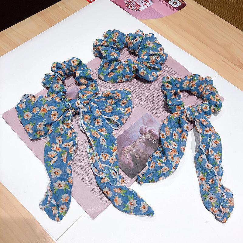 Weinlese-Frauen Blumen elastische Haar-Bänder Pferdeschwanz-Halter Scrunchie Mädchen-Haar-Seil-Mode Frau Stirnband-Zusätze