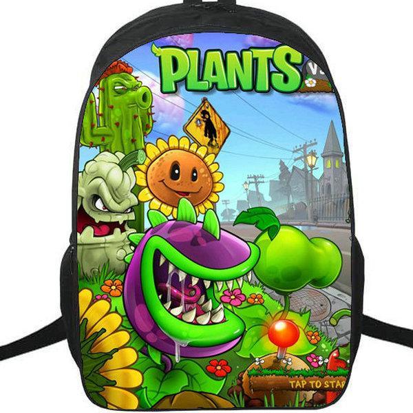 PVZ ظهره محطات مقابل الكسالى Daypack حقيبة حديقة الصورة المعركة المدرسية لعبة حقيبة الرياضة حقيبة مدرسية حزمة اليوم في الهواء الطلق