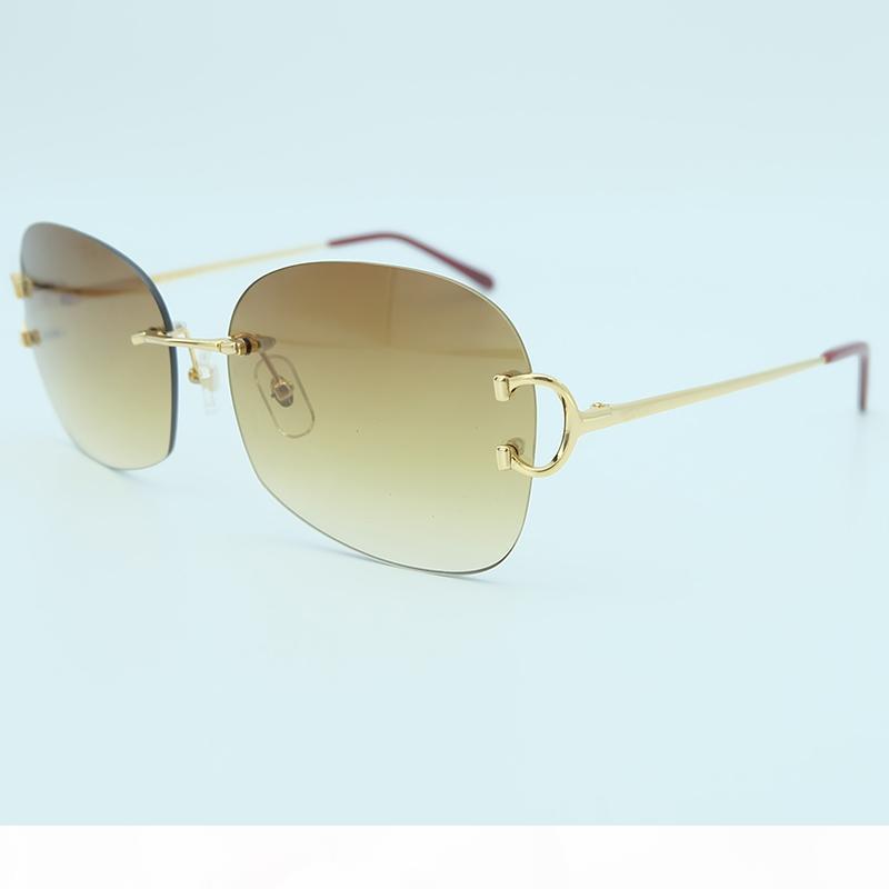 Übergroße Sonnenbrille Mens Fashion Produkte 2018 Qualitäts-Sonnenbrillen Randlos Big Sunglass