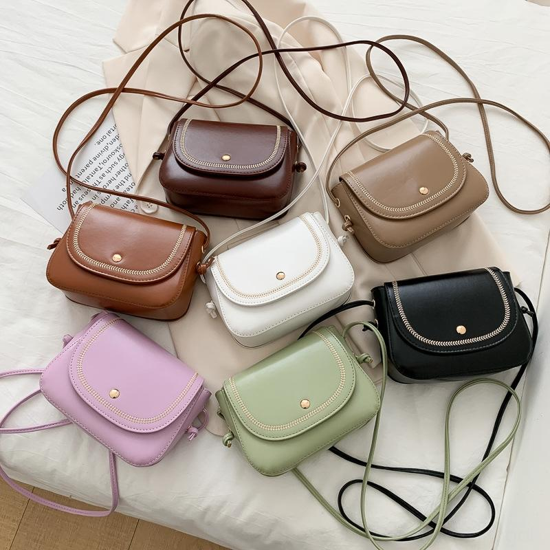 2020 yeni Omuz Küçük kare küçük kare Kore tarzı basit moda omuz Pu crossbody çantası kadın çantası