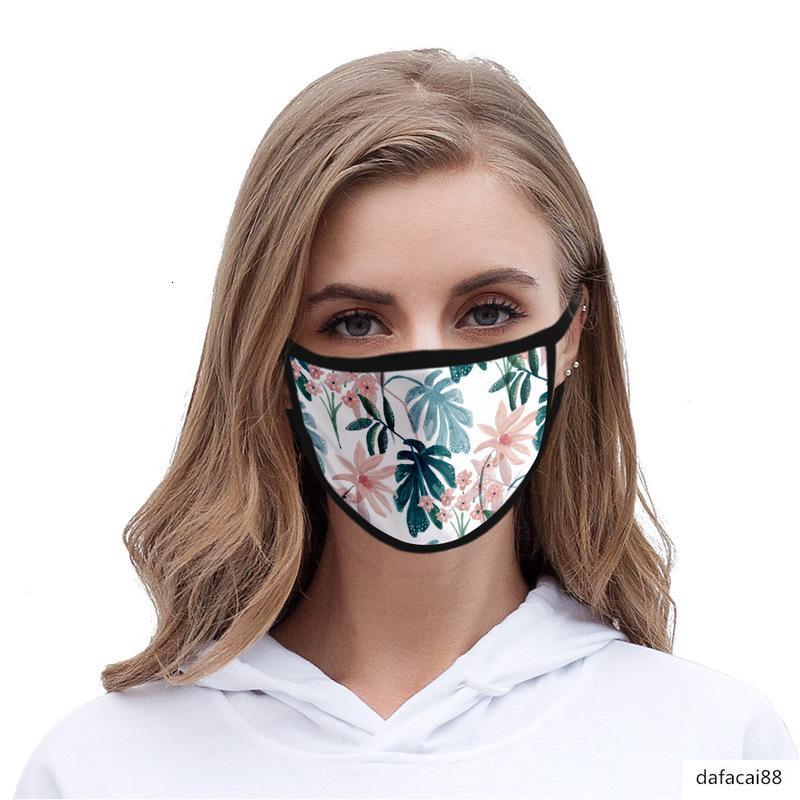 Hojas 3D máscara a prueba de polvo de impresión hielo lavable tela de seda