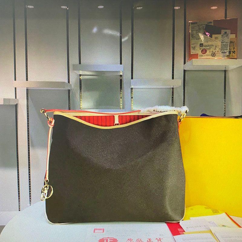 N50156 Calvi High Quality NEVER Oxidize Leather Bag Mono Flower Fashion Classic Handbag Women Shopping Totes Woman Shoulder Bags