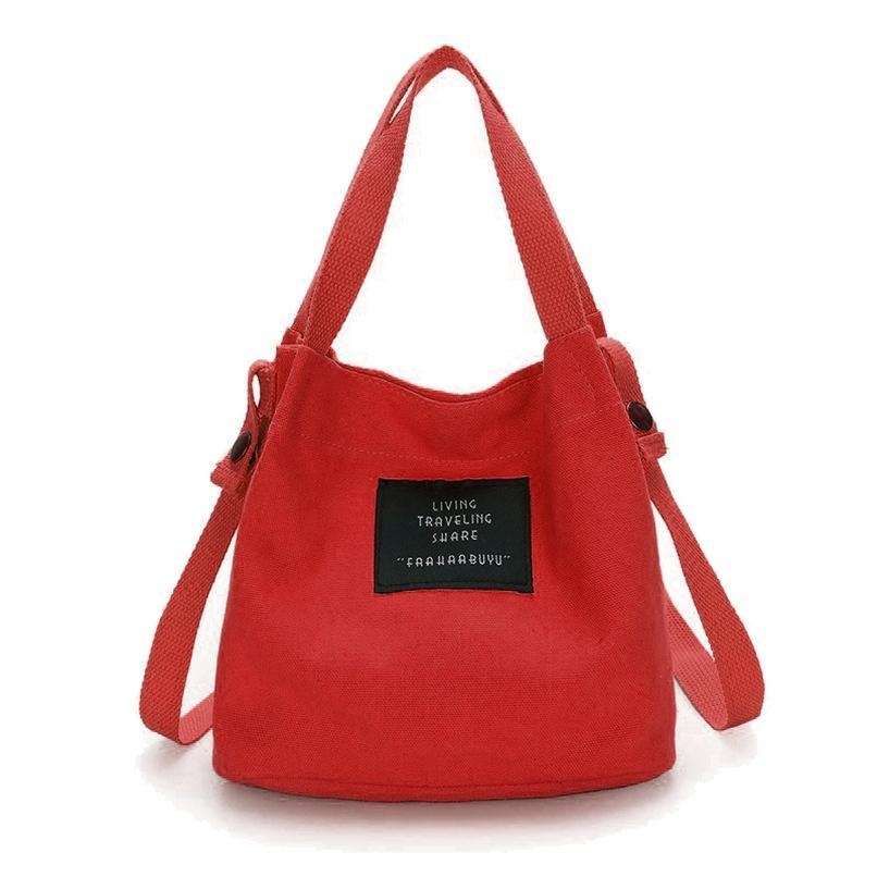 Abdb Мода женщины Холст Холст сумка Сумка Tote Кошелек Cute Travel Bucket Bag