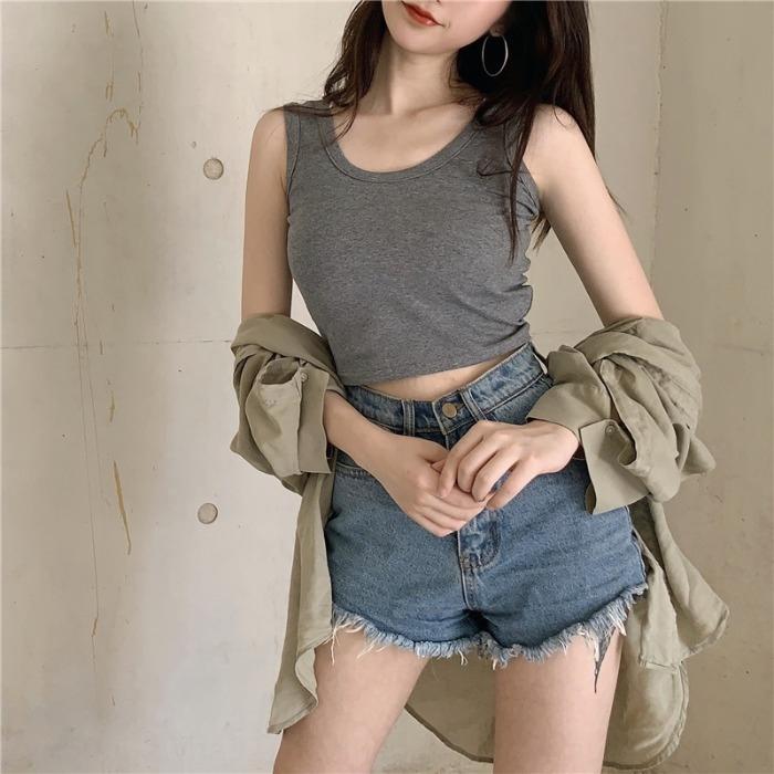 dış giyim moda göbek pozlanmış çevrimiçi ünlü küçük jartiyer yelek 2020 yeni Kore tarzı kısa zarif yelek kadın Kaşkorse Coat