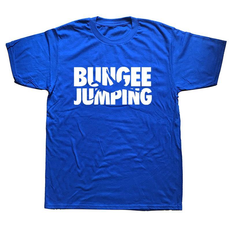 Bungee Jumping Evolução New Men Summer manga curta Casual impressão Hip Hop da rua T-shirt