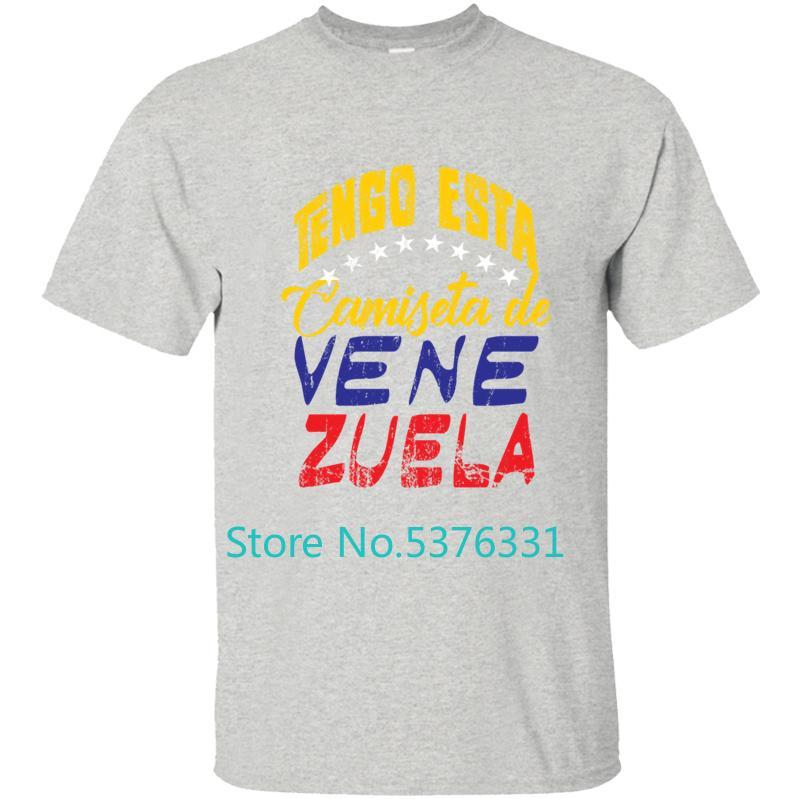Nueva Moda Venezuela camiseta Camiseta para los hombres Camiseta hombre Ropa de cuello redondo de la aptitud 2020 Diseño Tops Camisa Blanca Hombre
