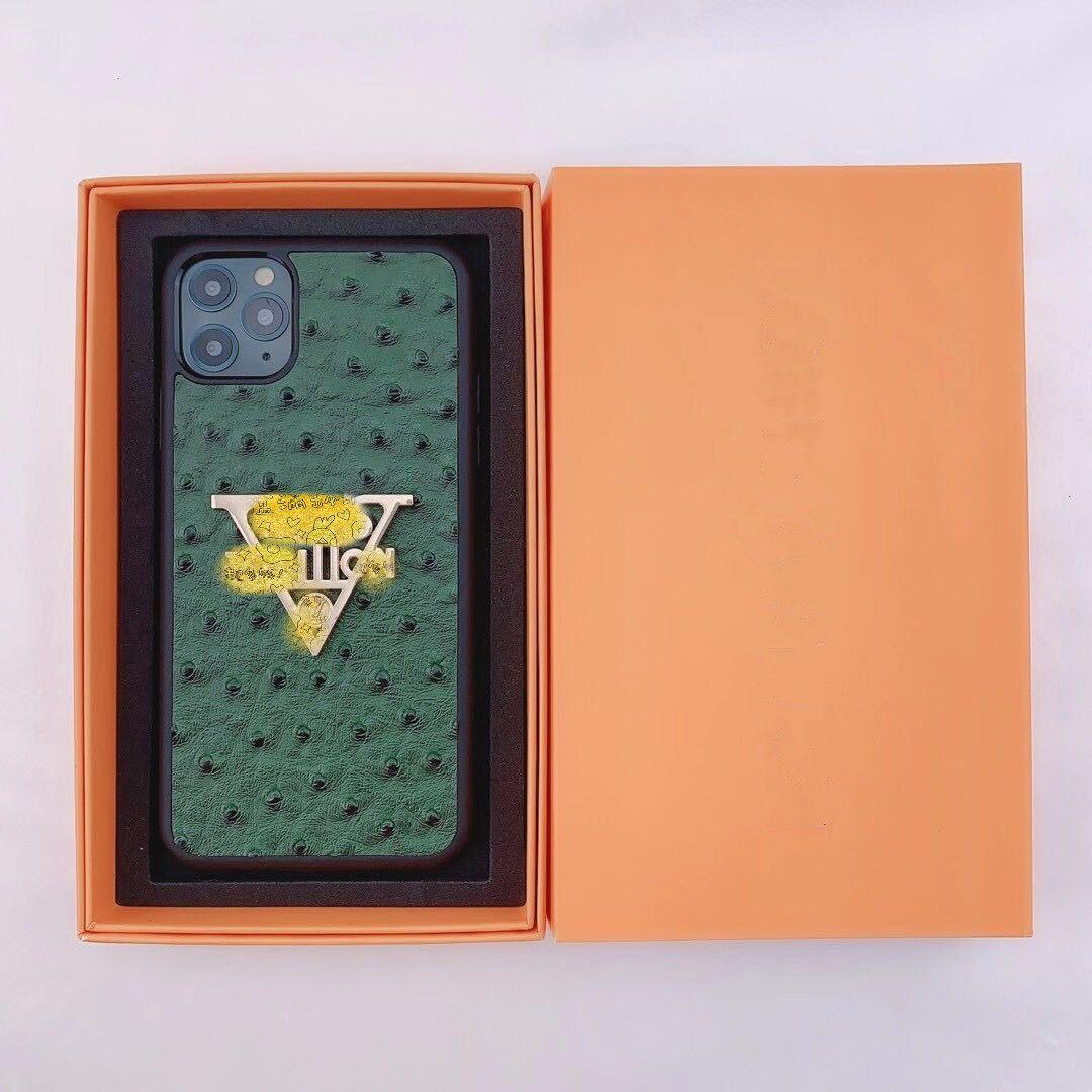 Top Grade Famoso Designer de marca telefone caso para iphone 11 pro xs max xr x 6 7 8 mais caso de couro