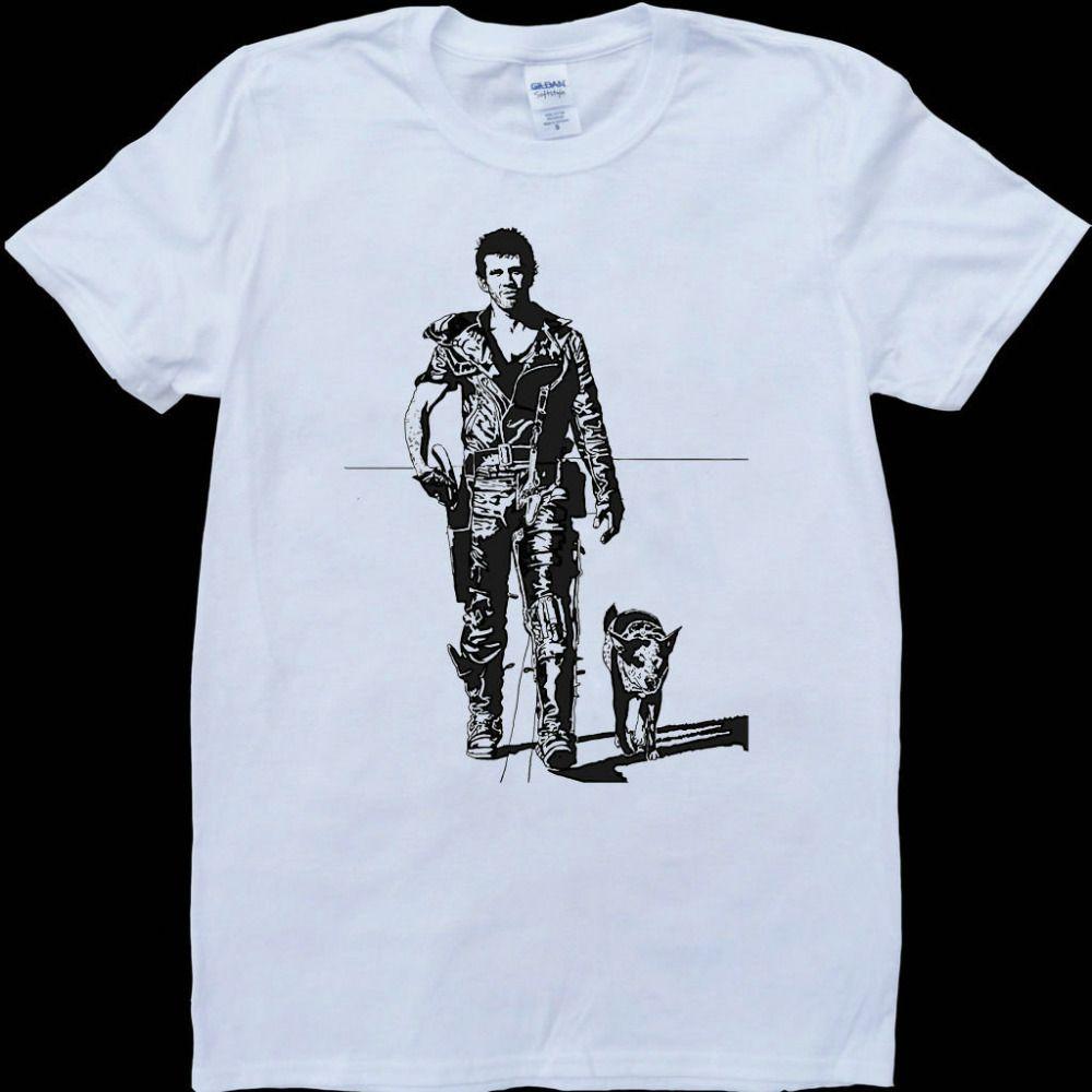 Moda de manga corta cuello redondo camiseta fresca de Mad Max Mel Gibson nuevos hombres remata las tes Hip Hop