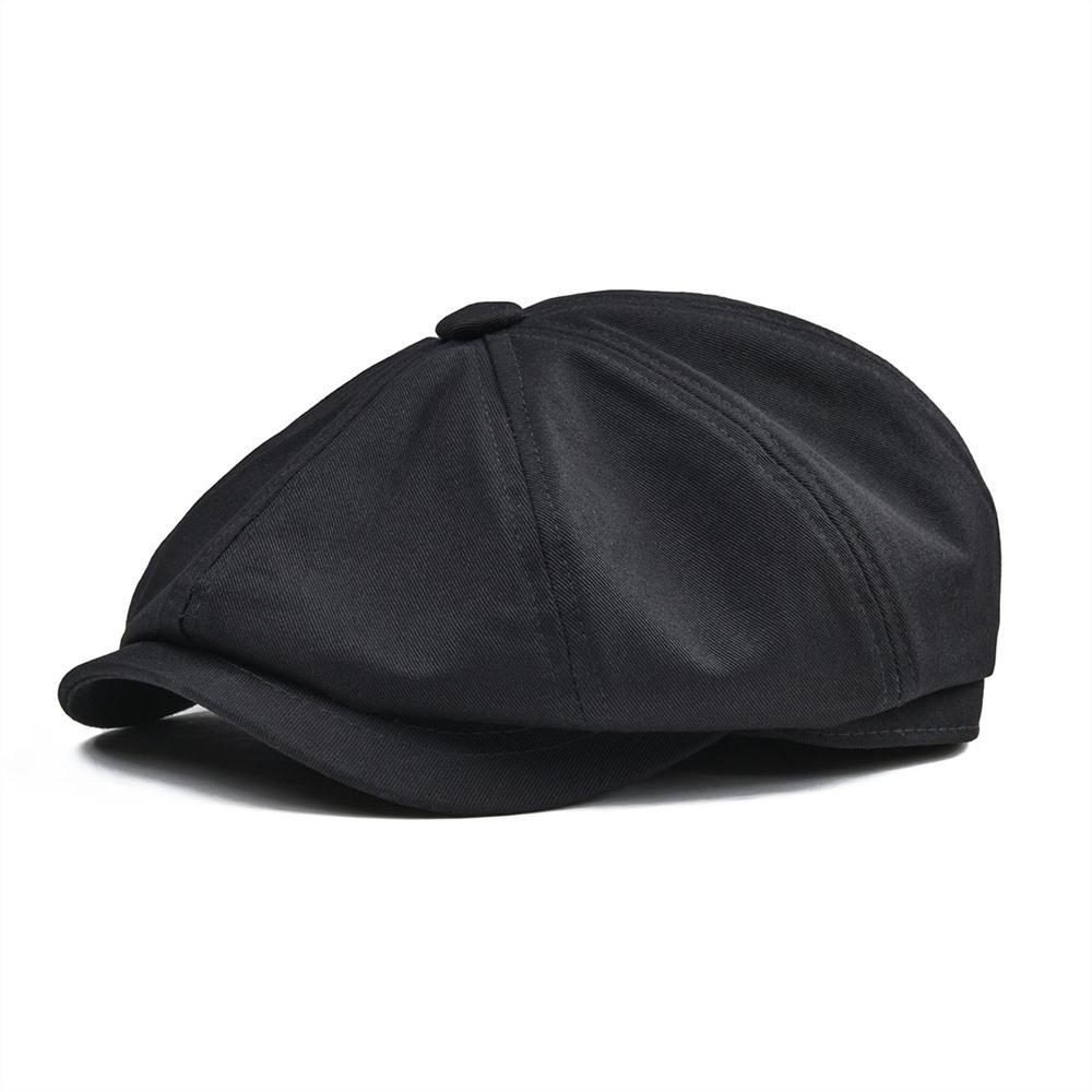 BOTVELA 100٪ حك القطن موزع الصحف قبعة رجل إمرأة كلاسيكي ريترو قبعة الصيف الخريف خفيفة الوزن سائق كاب 003 T200715