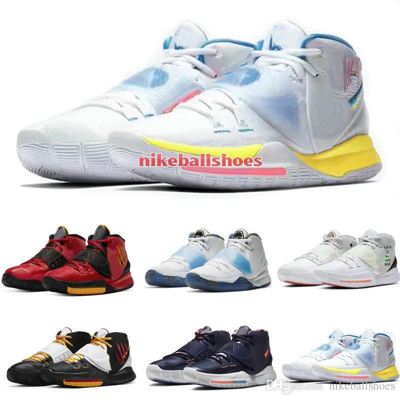 تخزين Kyrie 6 N7 النيون الكتابة على الجدران أحذية كرة السلة مبيعات الرجال النساء للأطفال مصمم أحذية شحن مجاني مع صندوق US4-US12