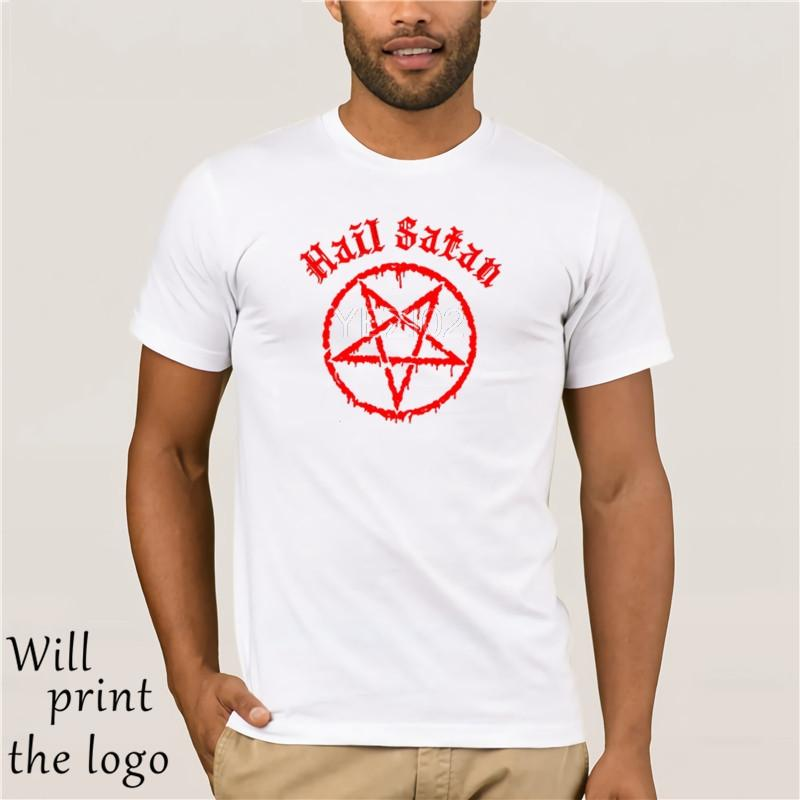 Kids Boys Girls Hail Satan T-Shirt Pentagram rock goth unholy satanic punk emo