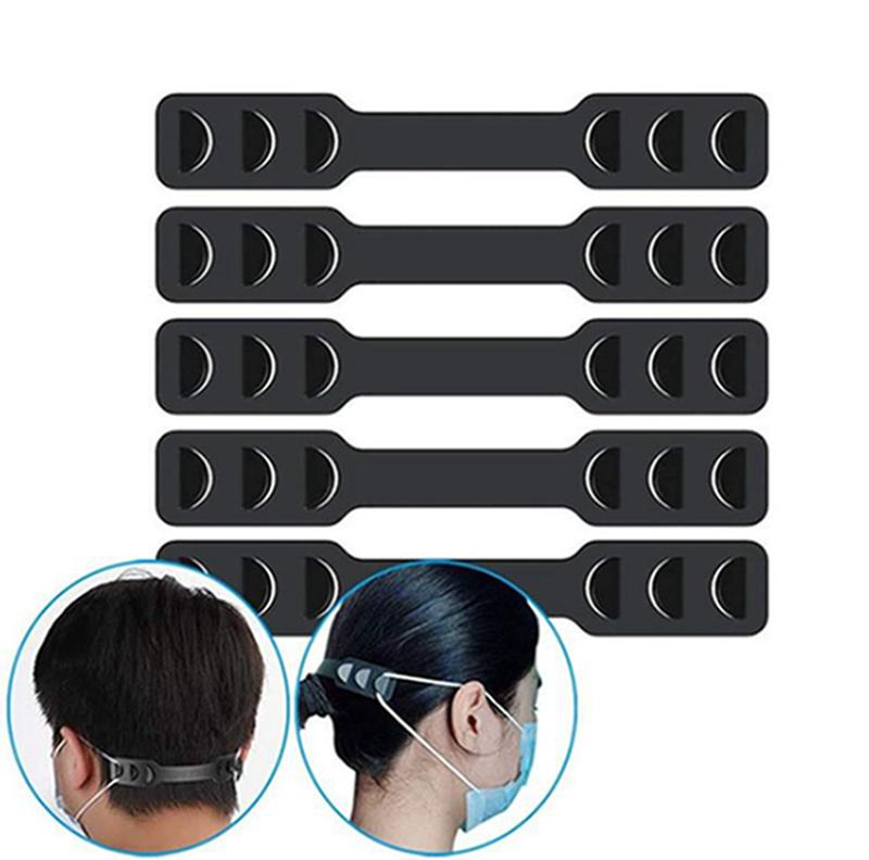 Extensores de gancho máscara de la mascarilla elástico correa de ajuste Proteger de Break Away Dolor Máscara Cinturón auricular ajustable Correa de extensión IIA379