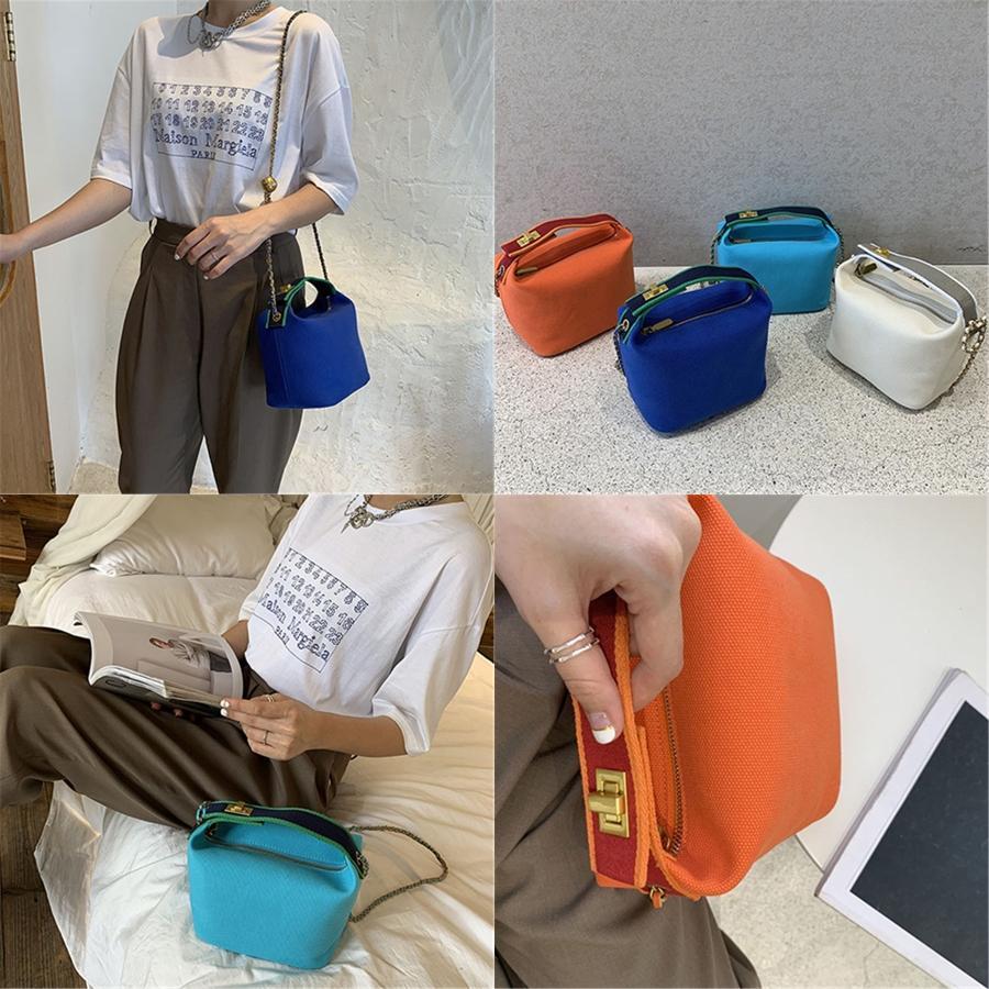 Handtaschen für Frauen Leinwand-Taschen-Tasche Frauen Einfache Handtaschen Damen Handtasche Bolsos Mujer Lady Frau Schulter # 619