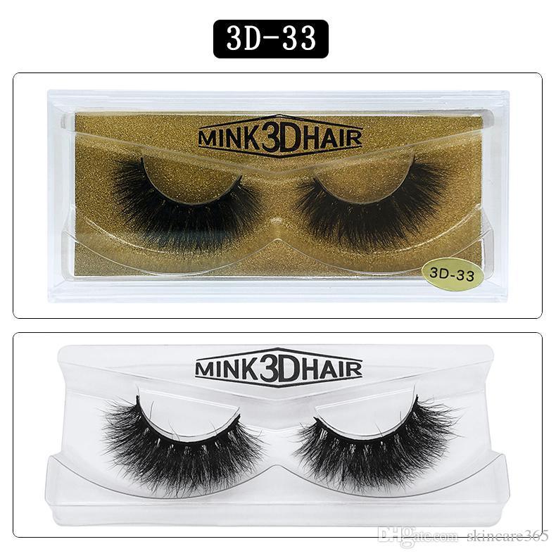 Mink pestañas de pelo grande 3D 25 estilos Manual de afilado 100 de visón Real falsas pestañas Herramientas de simulación de belleza pestaña natural cuadro natural