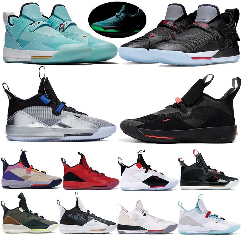 أحذية الرجال 33 الثالثة والثلاثون لكرة السلة رياضة السنة الصينية الجديدة المدربين مستقبل الطيران للتكنولوجيا حزمة المرئية المساعدة Jumpman 32S الثاني والثلاثون Chaussure Zapatos