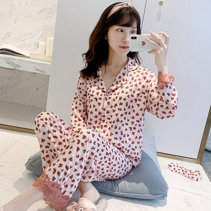 Önerilen ~ 2020 yaz elbise ev giyim pijama kadın ipek kısa kollu pantolon boş ev giysileri ince takım elbise mobilya