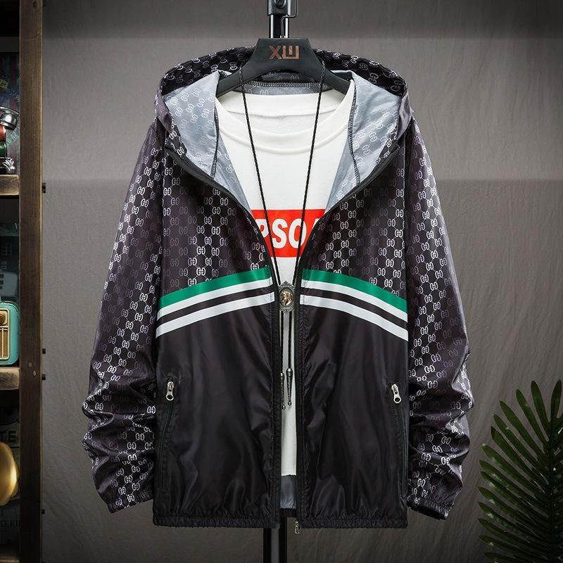 JdxCm ropa de abrigo chaqueta de los hombres chaqueta de protección solar de moda de verano ultrafino respirable de la ropa informal ropa de verano hermoso protector solar