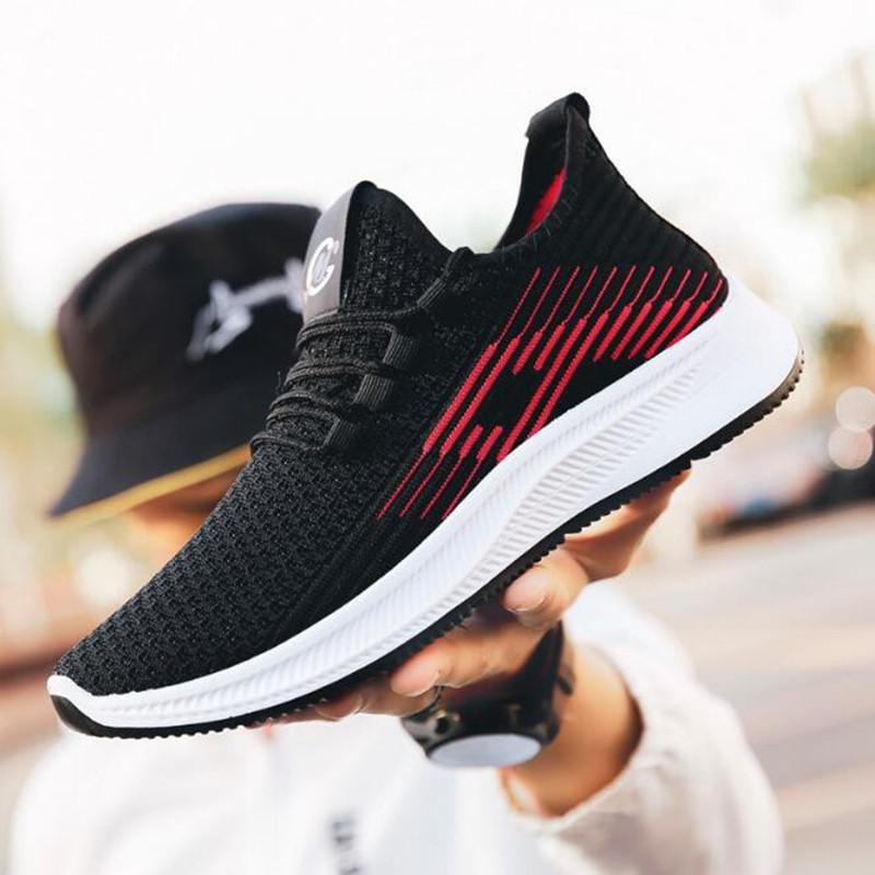 Casual chaussures hommes 2020 nouvelles chaussures de course légères tissées volants respirant version coréenne de baskets mode masculine de sport