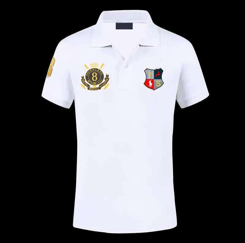 tasarımcının s tişört rts iş Men'SEmbroidery Pamuk Yaz Gömlek indirimli Araca Özel USA Kısa Kollu Takım Gömlek Boyut