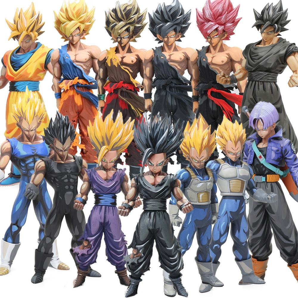 12styles 23-34cm Manga Dimensions Vegeta Son Goku Son Gohan PVC Action Figure Dragon Ball Z Master Stars Piece Model Dolls MSP Y200723