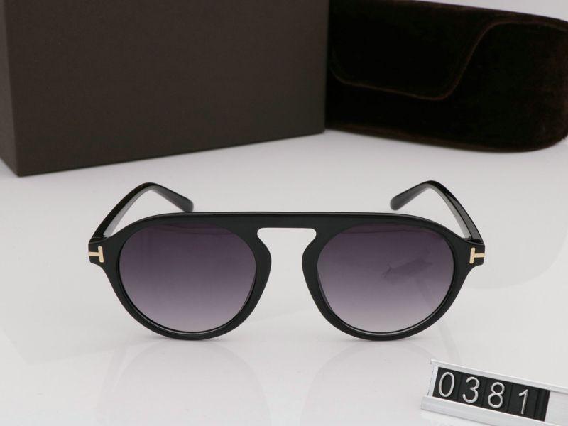 2019 Yeni Moda Yuvarlak Erkek Kadın Gözlük için Güneş Gözlüğü Tom Tasarımcı Kare Güneş Gözlükleri UV400 Ford Lensler Trend Kutusu Güneş Gözlüğü TF0381