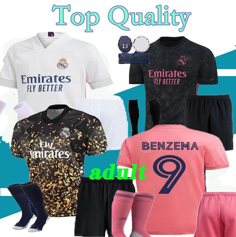 S-XXL men kit +sock 2020 Real Madrid MARIAN soccer jersey 2019 2020 2021 BENZEMA SERGIO RAMOS MORATA ISCO ASENSIO BALE football jersey shirt
