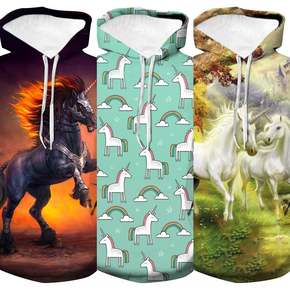 DAeMa nouvelle jeunesse mode 3D licorne automne et l'hiver à capuchon lâche licorne nouvelle jeunesse mode 3D à capuche Hoodie hoodiesweater hoodiesweater aut