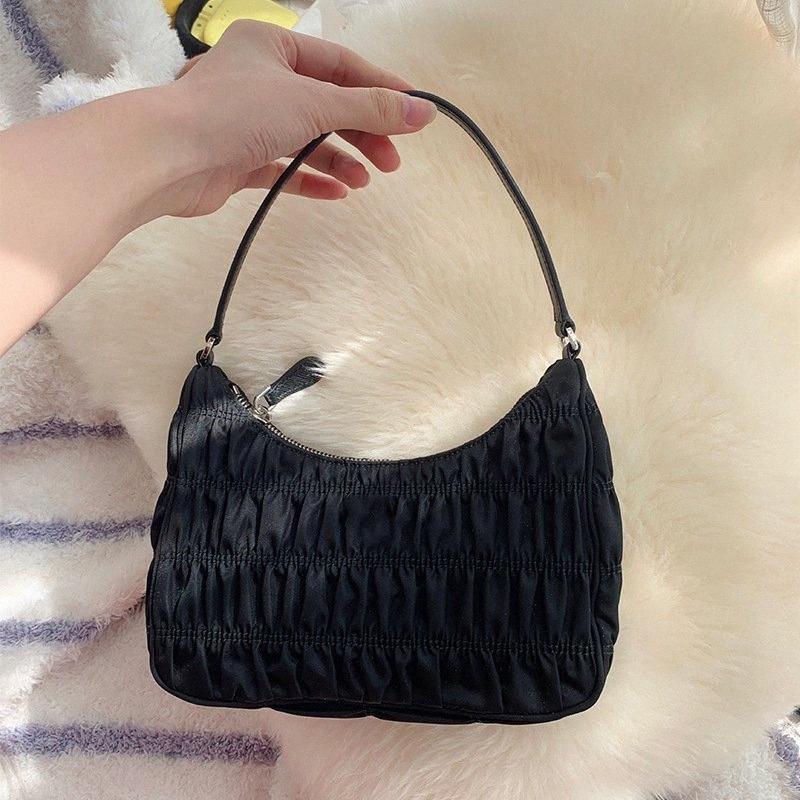 2020 donne di disegno Hobo Pieghe Borsa Borse Estate ascellare sacchetto di nylon borsa piccola di spalla femminile Borse kwLd #