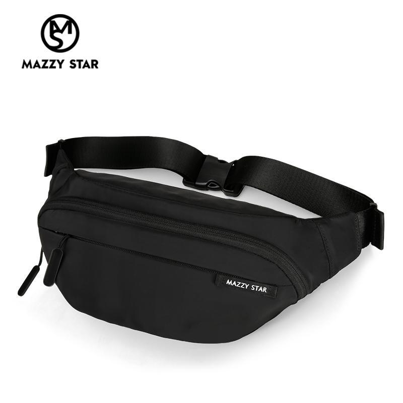Waist Bag Men Fanny Pack Black Waterproof Chest Handbag Money Belt Bag Men Teenager's Travel Wallet Belt Male Chest Phone Pouch CX200713