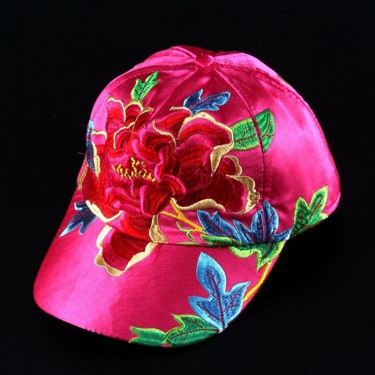 Nouveau style national casquette brodée de base-ball national brodé casquette de baseball féminin chapeau de soleil chapeau Four Seasons