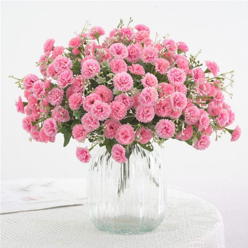 Decoração Início Artificial Flores Simulação Hydrangea Falso Silk partido Home Flower Garden pequeno Lilás Flores bonitas