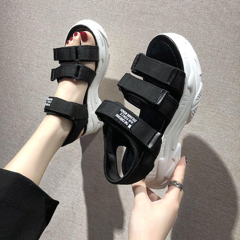 Sandali 2020 estate donne di modo robusto sandalo della spiaggia Denim di TUINANLE Gladiator piattaforma donne comode Sandali Mujer CX200715