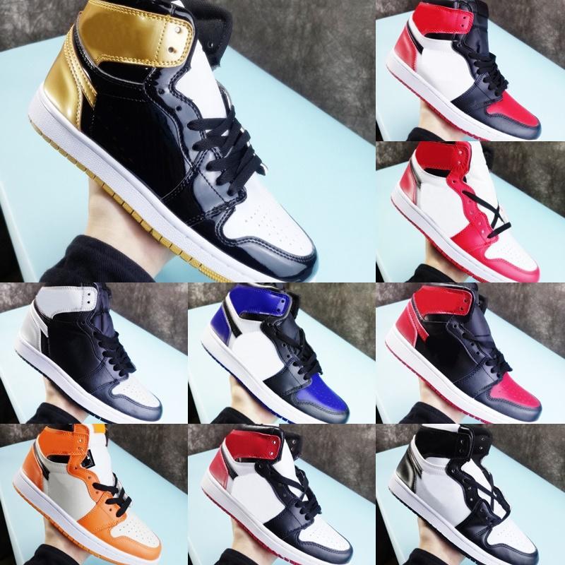 Мужские баскетбольные туфли 1s High og 1 Разведка запрещены мужские Женские кроссовки размером 36-45 евро