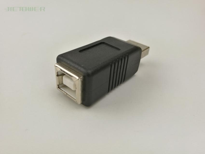 300pcs / wholesale 0usb2.0 USBA male B female plug adapter charger connector converter