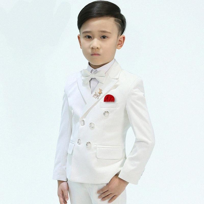 New Arrival Fashion Formal Suits Double Breasted Kids Suit Boys For Wedding High Quality Spring Autumn Children Plus Size 3-14 aRku#