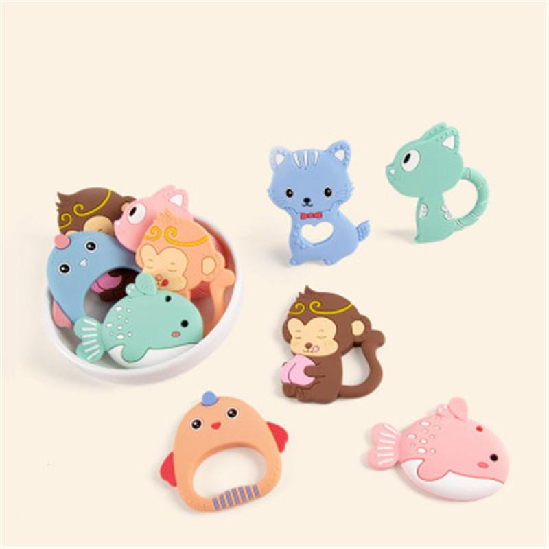 1pcs DIY Macaco animal Grade Silicone Beads bebê Teethers Enfermagem Chew Silicone DIY Chupeta Pingente Acessórios dentição