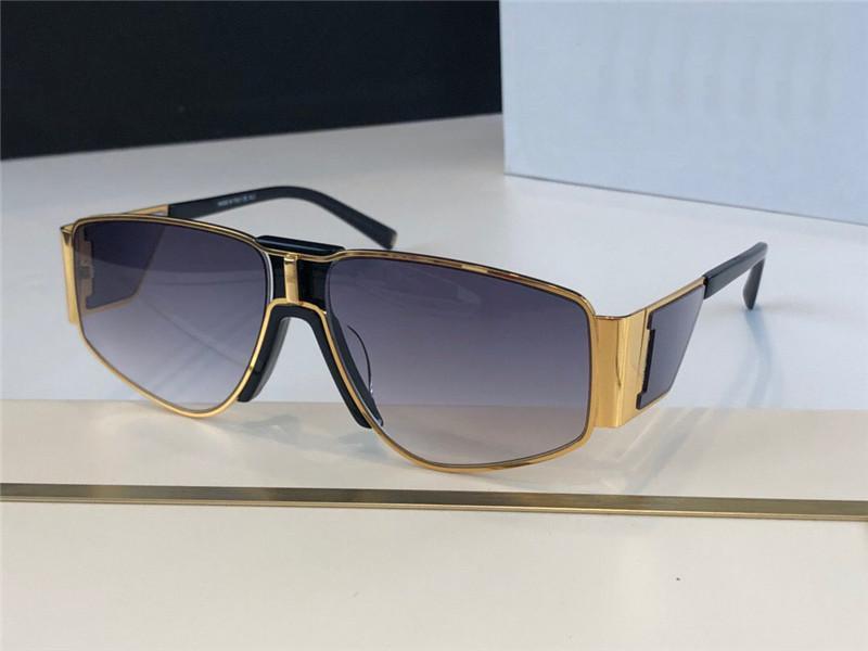 Nuovo disegno di modo occhiali da sole 7166 rettangolare in metallo semplice cornice stile popolare protezione UV400 occhiali all'ingrosso di alta qualità con la scatola