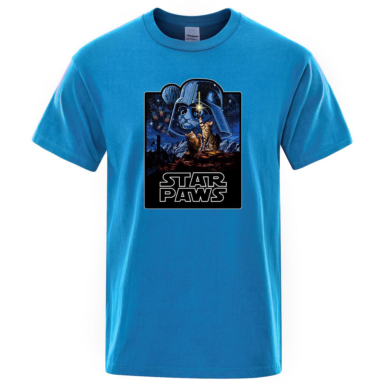 Yıldız Paws Erkek Tişört Yeni Moda Gevşek Tişört Erkekler Kısa Kollu 2019 Yaz Komik T Gömlek Pamuk Tee Soğuk Erkek Streetwear Tops