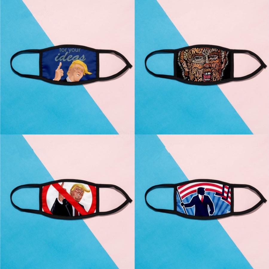 2020 Stampato Maschera per il viso maschere lavabile elezioni americane di stampa esterno antipolvere Ciclismo collo sciarpa magica Bandana Designer Printe # 142 # 778