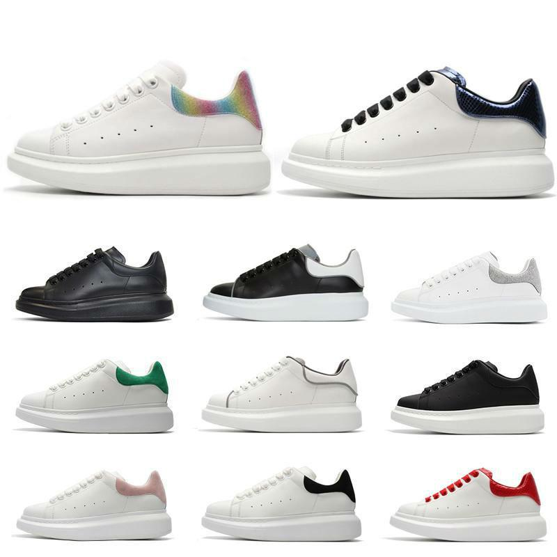 Uomo Donna scarpe di cuoio di lusso Vera Pelle scamosciata pedana piatta casual Calzature Lace Up riflettente Tripla piattaforma Sneakers Vintage
